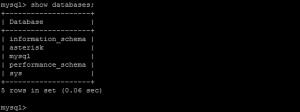 login mysql 5.7 va show databases