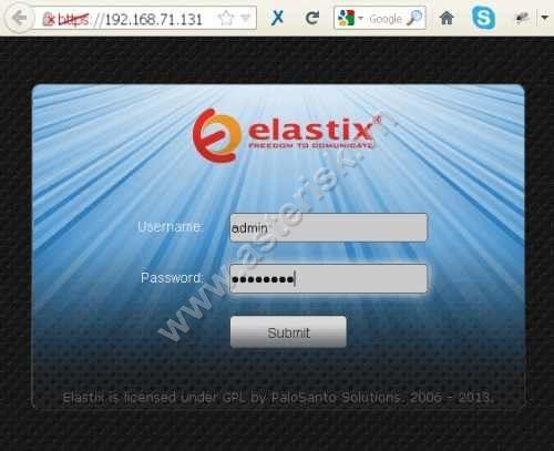 tạo extensions Elastix